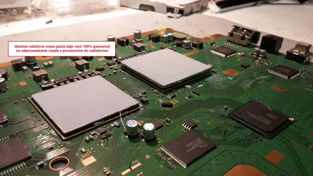 Czyszczenie konsoli PS3 Xbox 360 + wymiana pasty termoprzewodzącej